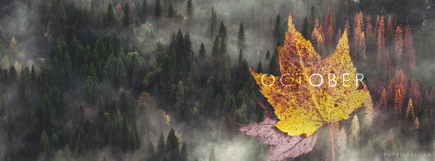 October Leaves Facebook Cover - October Fall Leaves Images -  October Event Day 2