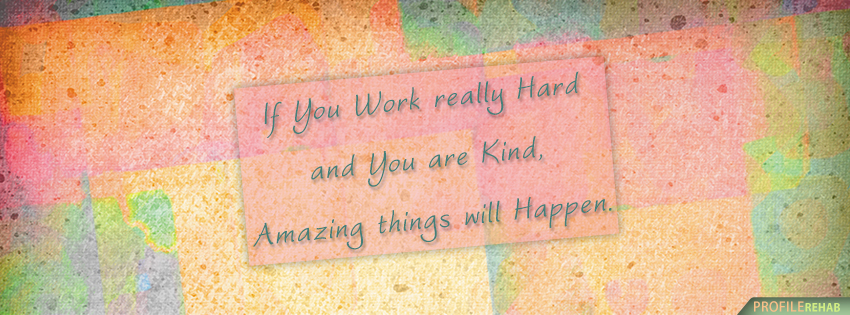 Motivational Quote Facebook Cover Preview