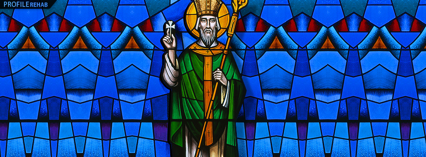 Image picture St Patrick - Pictures of St Patrick Stained Glass