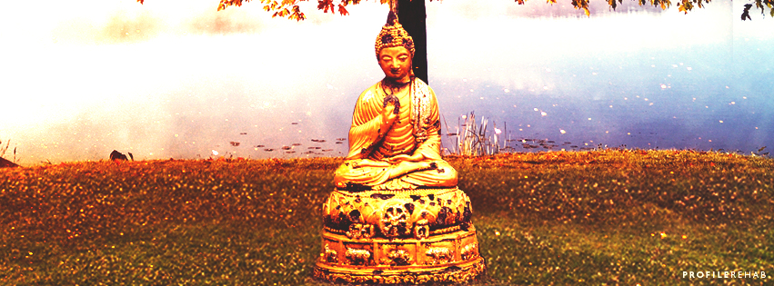 October Event Day 10 Buddha in Fall Facebook Cover
