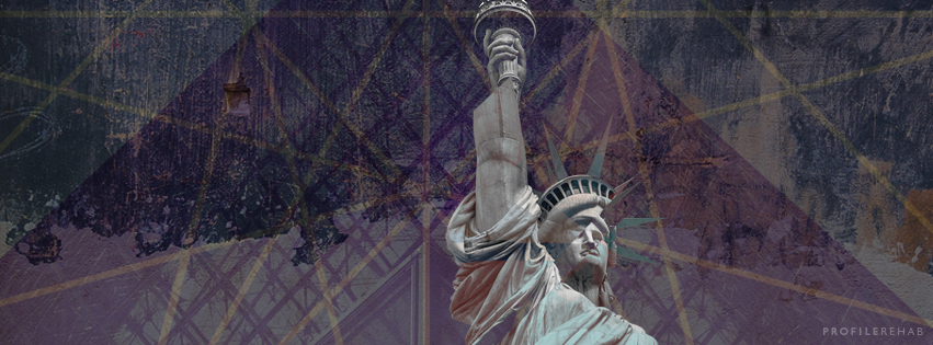 Fragmented Statue of Liberty Image for Facebook Cover - October Event Day 14