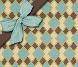 Brown & Blue Diamond Layout-Blue & Brown Diamond Theme
